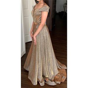 Gold Prom/Graduation Dress